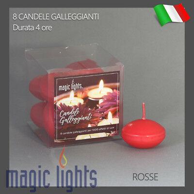 Candele Galleggianti Magic Lights Candela Galleggiante 8Pz Rosse Autospegnimento