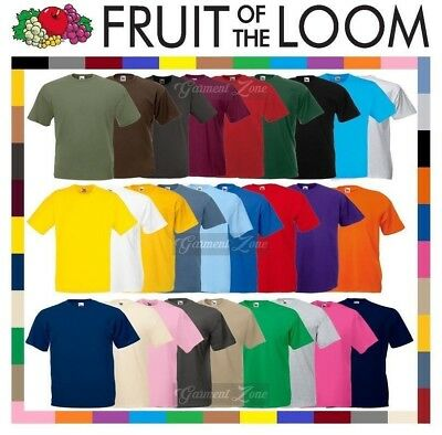 1 or 5 Pack Fruit Of The Loom Plain T Shirt Cotton Tee Shirt TShirt T-Shirt Lot