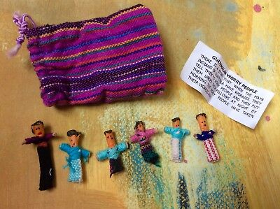 2 Sets Of Guatemalan Worry Dolls Quirky Unusual Gift Good Condition