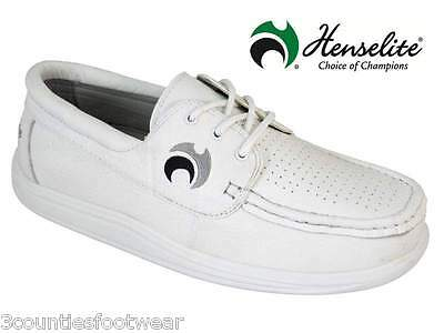 GENTS WIDE FIT BOWL SHOES - HENSELITE TEAM LAWN GREEN BOWLS - LAST FEW free p&p