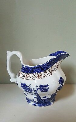 Vintage Doulton Booths Real Old Willow Milk Jug