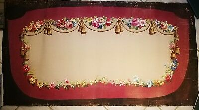 Antique French Aubusson Tapestry Cartoon Design Painting On Paper Very Large
