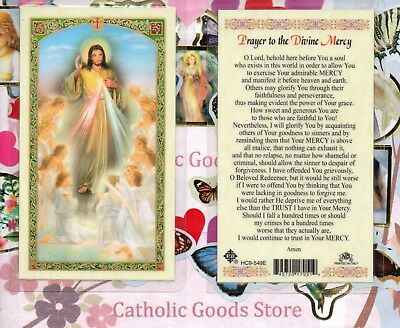 Divine Mercy  - Prayer to the Divine Mercy - Laminated Holy Card