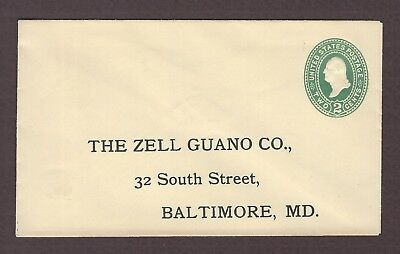 mjstampshobby 1886 US Famous The Zell Guano Co Vintage Cover Used (Lot4864)