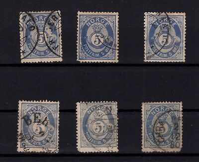 P44045 / Norvege / Norway / Sg # 55 X 6 Obl / Used 318 €