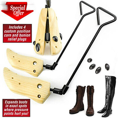Boot Stretcher Men Mens Women Size Wood Shaper Western Adjustable Bunions Corns