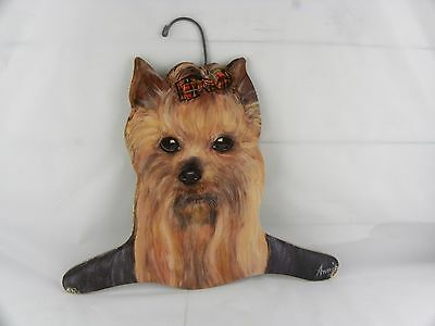 Annie Rinehart Stupell Animal Yorkie Dog Coat Hanger USA