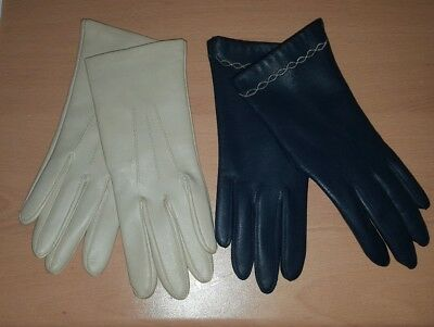 Two pairs of vintage gloves in immaculate condition size 7/medium 493