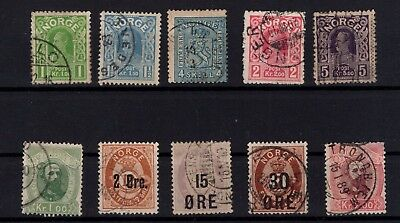 P44053 / Norvege / Norway / Lot 1867 / 1910 Obl / Used 97 €