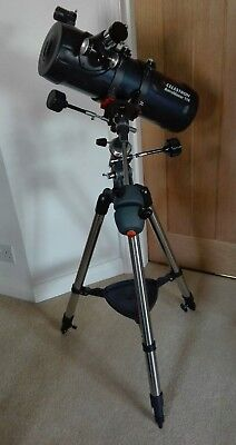 CELESTRON ASTROMASTER 114EQ REFLECTOR TELESCOPE (excellent condition)