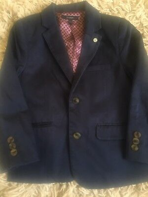 Boys Age 4-5 Autograph Marks & Spencers Navy Blue Smart/Casual Blazer Worn Once