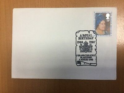1980 Queen Mother 80th Birthday Grand Theatre Blackpool Postmark