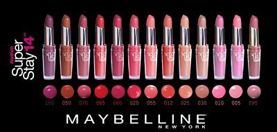 Rouge a levres Super Stay 14 heure Gemey Maybelline teintes aux choix