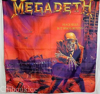 MEGADETH Peace Sells But Who's Buying HUGE 4X4 BANNER poster tapestry cd album