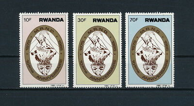 Rwanda  1221-3 MNH, Economic Development, 1985