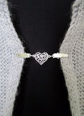 Cardigan, Sweater, Blouse, Shawl Clips/Clasps, Heart