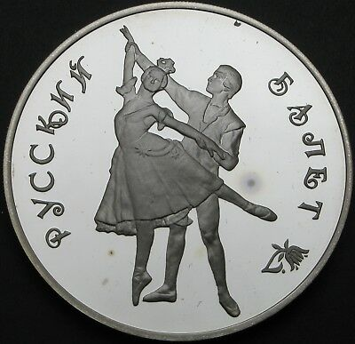 RUSSIA 3 Roubles 1993 Proof - Silver - Russian Ballet - 392 ¤
