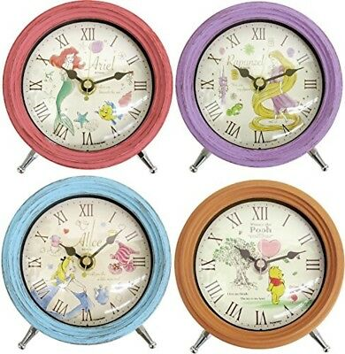 Disney Alice in wonderland clock woody design table clock with second hand