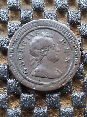 George I 1724 copper farthing