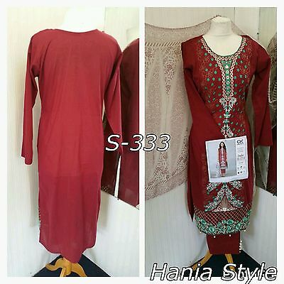 Branded Ready Made Shalwar Trouser Kameez With Stylish Embroidery. Size M 12