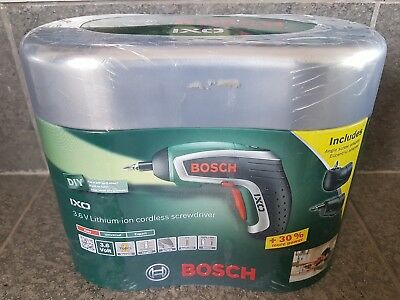 Bosch Ixo 3.6v lithium cordless screwdriver tool electric EXTRAS NEW IN BOX RC
