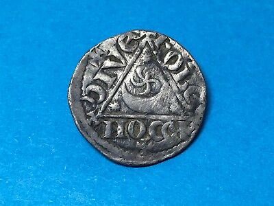 Irish Medieval Hammered King John Silver Penny Dublin Mint