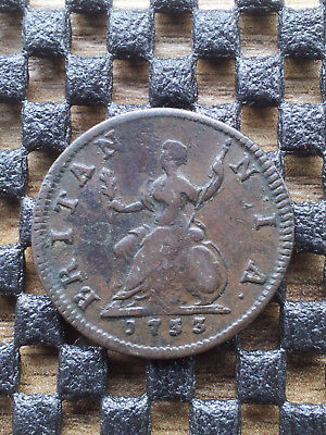 George II 1733 copper farthing