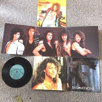 "Bon Jovi ''bad Medicine'' Limeted Edition Photofile 7"" Special Pack"