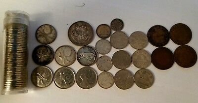 Canada vintage/old coins lot