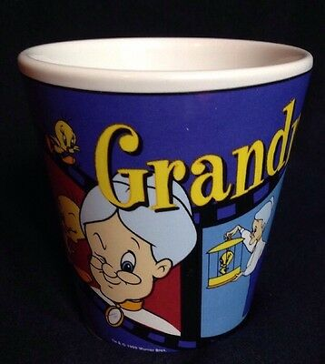 1999 Warner Bros Grandma Tweety Bird Ceramic Mug Cup Grandmother