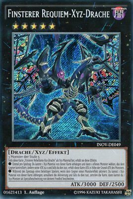 Finsterer Requiem-Xyz-Drache - INOV-DE049 - Secret Rare DE NM