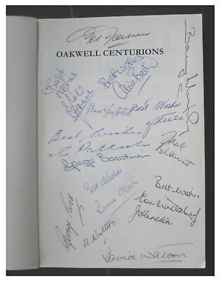 Oakwell Centurions Signed By 15 Barnsley FC Players Clive Baker Ronnie Glavin +