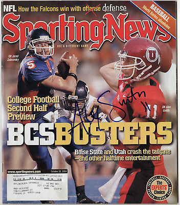 Alex Smith signed autographed Sporting News magazine! Pre-Rookie! Authentic!
