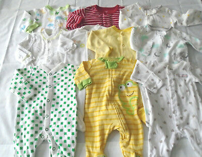Used 10 Pc. Lot Of Unisex Newborn Baby Clothes/sleepers 0-3 Months Euc