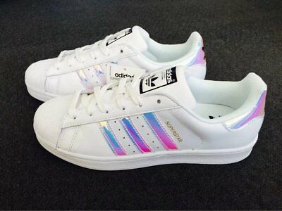 Adidas Superstar Women's Iridescent Casual Up Sneakers 7