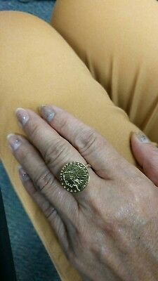 1926 Indian head $2.50 gold coin ring