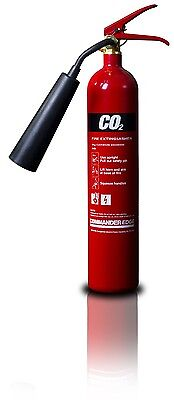 2Kg Co2 Fire Extinguisher Brand New Ce & Bs Kitemarked 24 Hr Delivery!!!