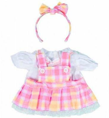 "PINK & YELLOW PINAFORE & HEADBAND FOR 16""/40cm TEDDY BEARS & BUILD YOUR OWN BEAR"
