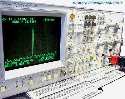 HP 3582A SUPERB AUDIO ANALYZER CAL'd 180 DAY WRNTY     READY FOR ACCURATE WORK !