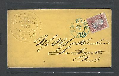 mjstampshobby 1861 US Cover VF Cond Vintage RARE (Lot1441)