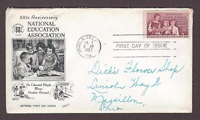 mjstampshobby 1957 US 100 Anniversary National Education Association FDC Used