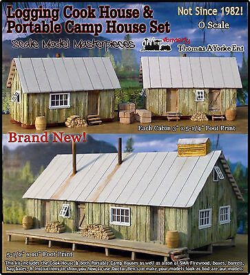Logging Camp Cook/Bunk House Set Thomas Yorke/Scale Model Masterpieces On3 *NEW*