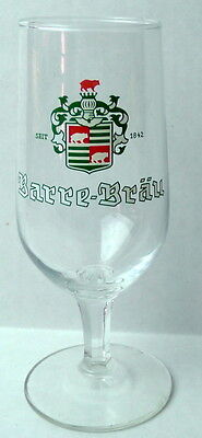 Barre Brau Beer Glass Stemware Vintage