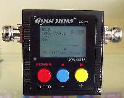Surecom Sw-102N Digital Vhf/uhf Power Ros/watt & Swr Meter E Frequency Count.