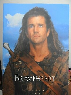 Braveheart - Mel Gibson -  Brochure Of The Film + Signed Message From Mel Gibson