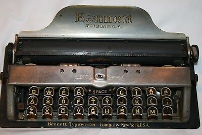 Antique Bennett Portable Typewriter Miniature Early Piece VG Condition