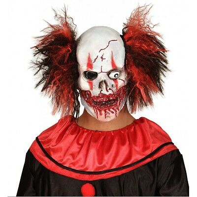 maschera CLOWN HORROR assassino PAGLIACCIO halloween costume travestimento 01019