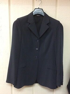 Grand Prix Ladies Tech Lite Riding Show Jacket Coat Washable 12 Tall Slim Navy