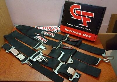 G-FORCE RACING SAFETY BELTS PRO SERIES HARNESS includes 2 STICKERS