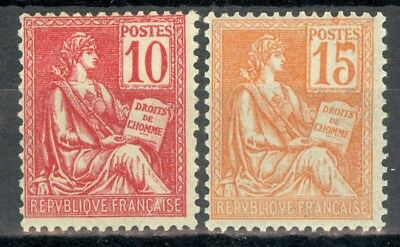 France, timbres N° 116 et 117 neufs *, TB